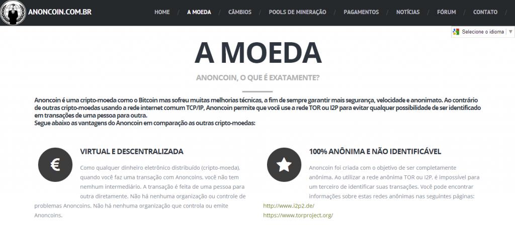 Anoncoin.com.br – ANC launches website in Brazilian Portuguese
