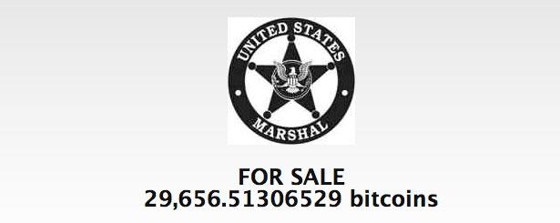 US Marshal Auction Bitcoins