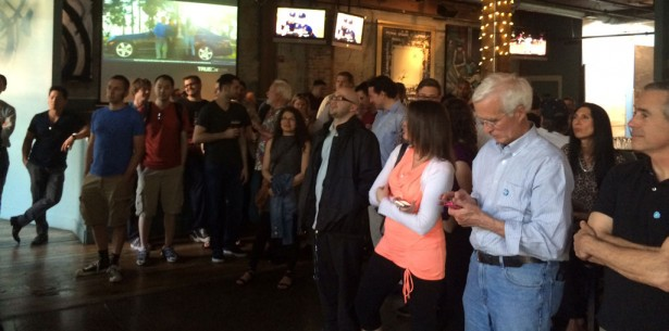 Coinme Robocoin Bitcoin ATM Seattle Crowd